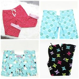 4 Pairs Fleece Pajama Pants M/L